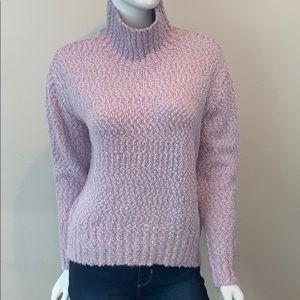 NWT Cynthia Rowley Mock Neck High Texture Sweater